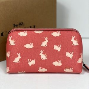Coach Bags - NWT Coach Cosmetic Case with Bunny Print